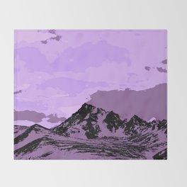 Chugach Mountains - EggPlant Pop Art Throw Blanket