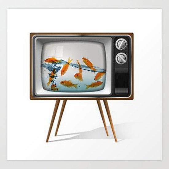 Fish Bowl TV _ 02 Art Print