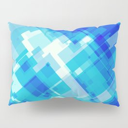 Digital Blue Pool Pillow Sham