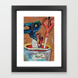 Scissors in a Paint Can Framed Art Print