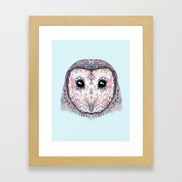 Sugar Skull Labyrinth Owl Framed Art Print