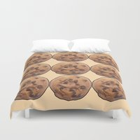 cookie monster Duvet Covers featuring Cookie by Spooky Dooky