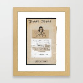 The Jesus Show Framed Art Print