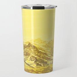 Mountains Yellow Travel Mug