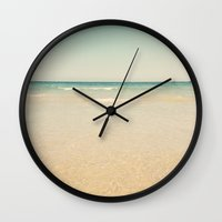 serenity Wall Clocks featuring Serenity by Cassia Beck