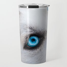 Siberian Husky Eyes (Color) Travel Mug