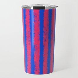 pink no blue bounding stripes 2 Travel Mug