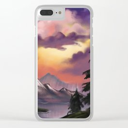 Attempt at Bob Ross Clear iPhone Case