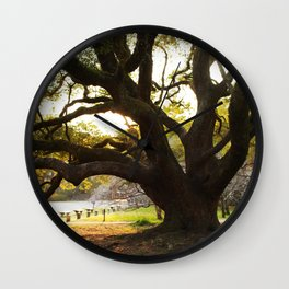 Sunset in the Palace Gardens Wall Clock