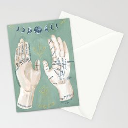 Palmistry Hand Illustration Stationery Cards