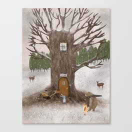 merry berry wood Canvas Print