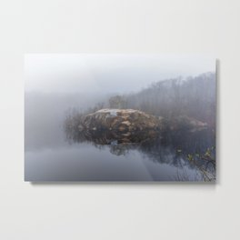 Foggy morning at the Quarry Metal Print