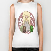 mother of dragons Biker Tanks featuring Mother of Dragons by Cosmic Lab Creations