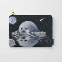 Destiny - Harp Seal Pup & Ice Floe Carry-All Pouch
