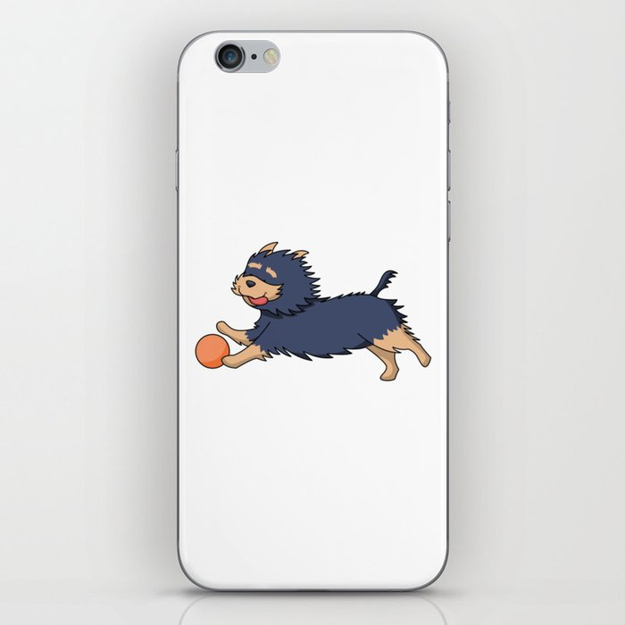 Cartoon Dog Playing with Ball iPhone Skin