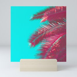 Neon Palm Mini Art Print