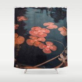 Dusty Pond    Lily Pad Shower Curtain