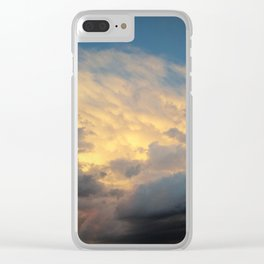 Angry Skies, Sad Goodbyes Clear iPhone Case