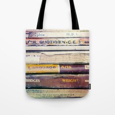 Vintage School Books Tote Bag