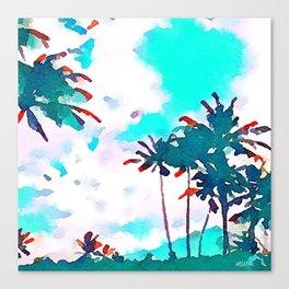 Lanikai Coconut Trees Canvas Print