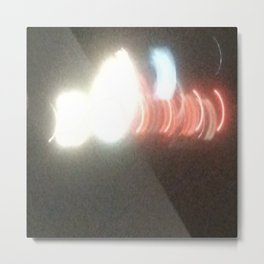 Abstracte Light Art in the Dark Version 29 Metal Print