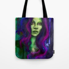 Galaxy within Her Tote Bag