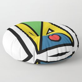 African colorful prints of geometry Floor Pillow