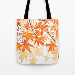 orange maple leaves watercolor Tote Bag