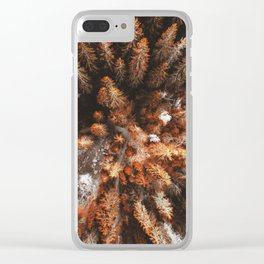 pine tree aerial view Clear iPhone Case