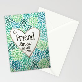 A Friend Loves Stationery Cards