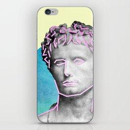 Aesthetic 90's Retro Vaporwave Augustus statue iPhone Skin