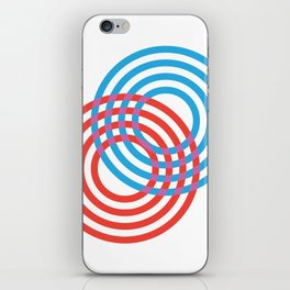CIRLES RED BLUE 01 iPhone Skin