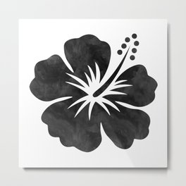 Hibiscus Watercolor Metal Print