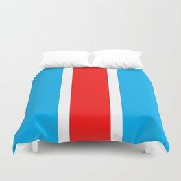 TEAM COLORS 10...RED , WHITE LIGHT BLUE Duvet Cover