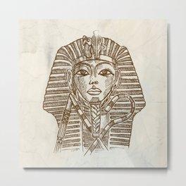 Golden mask of Egyptian pharaoh Metal Print
