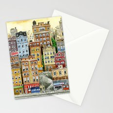 Painted Houses Stationery Cards