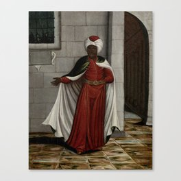 The Kislar Aghassi, Chief of the Black Eunuchs of the Sultan, workshop of Jean Baptiste Vanmour, 170 Canvas Print