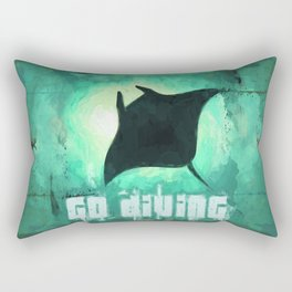 Go Diving! - Manta Ray Rectangular Pillow