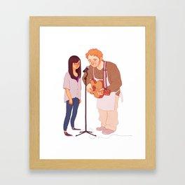 Andy & April Framed Art Print