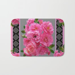 VICTORIAN STYLE CLUSTERED PINK ROSES ART Bath Mat