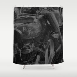 Chalk & Charcoal Royal Enfield #1 Shower Curtain