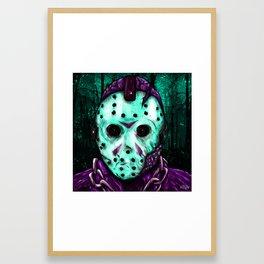 Jason Voorhees - Friday the 13th (8-Bit) Framed Art Print