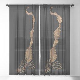 Winged Kelp Sheer Curtain