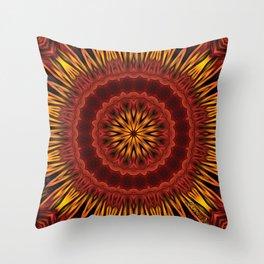 Mandala of Surya the Sun God  Throw Pillow