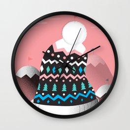 Mount Pom-Pom Wall Clock