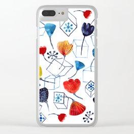 DOODLES Clear iPhone Case