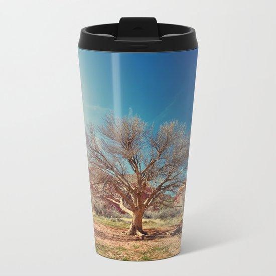 Sun desert tree Metal Travel Mug