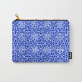 Sapphire Blue Star Flower Carry-All Pouch