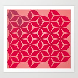 Flowers and geometry in pink Art Print