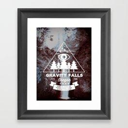 Visit Gravity Falls Framed Art Print